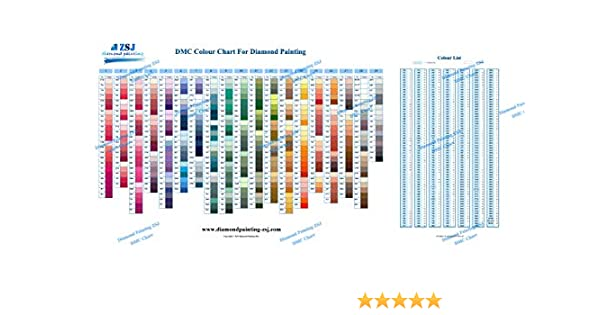 image regarding Free Printable Dmc Color Chart titled : DMC Coloration Chart for Diamond Portray The