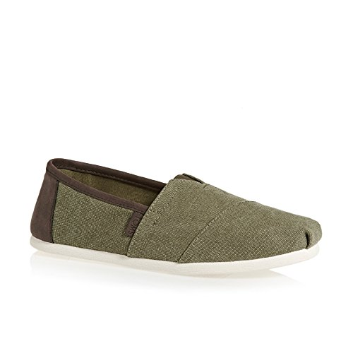 TOMS Men's Seasonal Classics Olive Washed Canvas Loafer ()