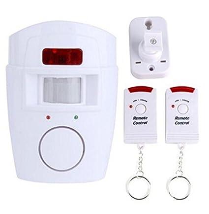 BW inalámbrico PIR Sensor de movimiento por infrarrojos Detector con 2 mandos a distancia para puerta