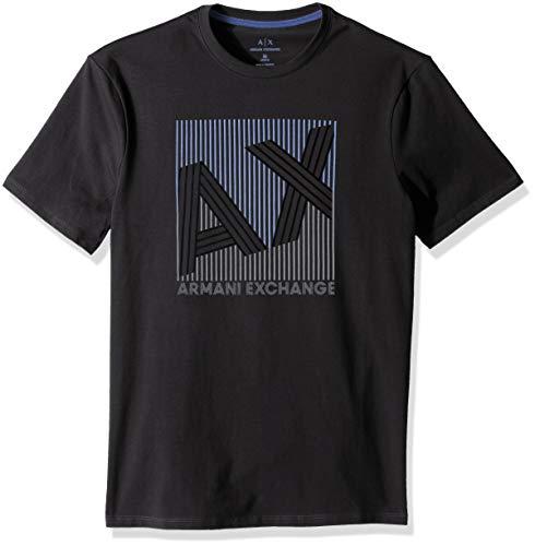 53f99d3c50965 A X Armani Exchange Men s Barcode AX Graphic tee, Black, ...