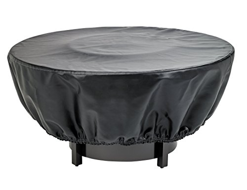 Phat Tommy Premium Heavy Duty Waterproof Outdoor Vinyl Fire Pit Cover- Durable & Long Lasting Protection, 48″ Round