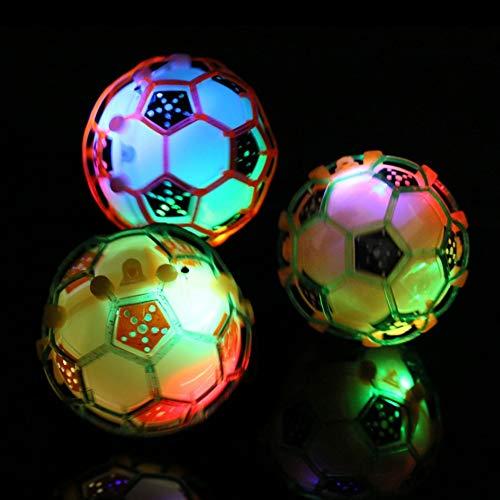 LeSharp Outdoor Toys, Shiny LED Light Flashing Music Ball Jumping Bouncing Football Baby Kids Toy - Random Color