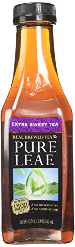- Lipton Pure Leaf Iced Tea, Extra Sweet,, 18.5 oz