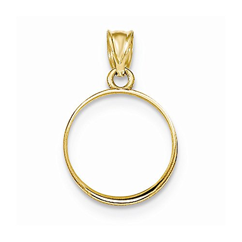 14k 1/10 Panda Coin Plain Bezel Mounting, Best Quality Free Gift Box - Base Only, No Stones
