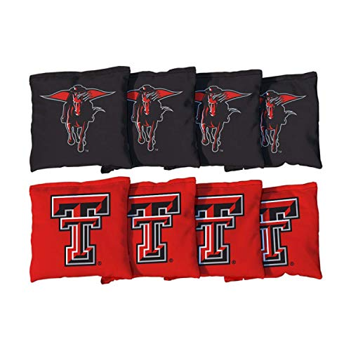 Victory Tailgate NCAA Collegiate Regulation Cornhole Game Bag Set (8 Bags Included, Corn-Filled) - Texas Tech Red Raiders