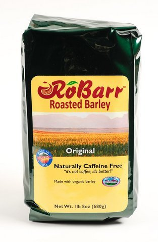RoBarr Original Roasted Organic Barley, Natural Beverage Drink, Coffee and Tea Substitute, 1lb 8oz, Caffeine Free, Compare to Postum or Pero,