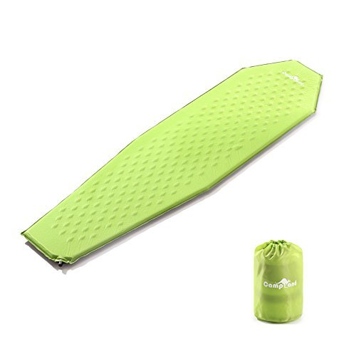 CampLand Ultra-light Self-Inflating Sleeping Pad Camping Mummy Mattress for Backpacking