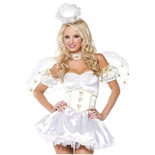 [GSG Golden Heart Angel Costume Adult Halloween Fancy Dress] (Sexy Ice Princess Costumes)