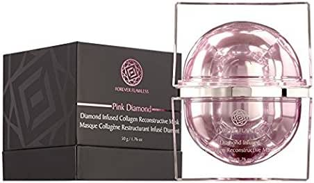 Forever Flawless Diamond Infused Collagen Reconstructive Mask with 100% Natural Diamond Infused Powder, Collagen Mask, Facial Mask, Anti Wrinkle & Anti Aging FF33, (1.76 oz)