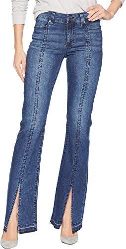 (Liverpool Women's Lucy Boot Split Stitch in Super Comfort Stretch Denim Jeans in Montauk Mid Blue Montauk Mid Blue 10 33 33)
