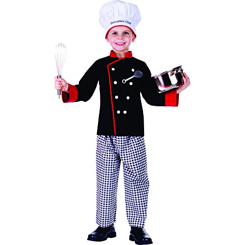Executive Boy Chef Costume - Size Medium (Chef Costumes For Kids)