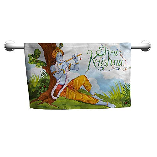 alisoso Ethnic,Boys Towel Playing Flute Forest W 14