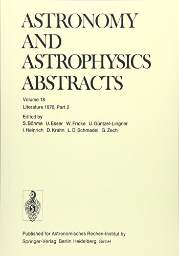 Literature 1976, Part 2 (Astronomy and Astrophysics Abstracts)