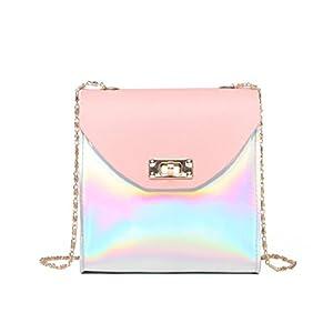 YJYDADA Fashion Women Crossbody Bag Shoulder Bag Messenger Bag Phone Bag Coin Bag (Pink)