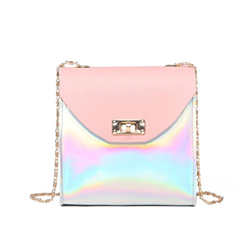 YJYDADA Fashion Women Crossbody Bag Shoulder Bag Messenger Bag Phone Bag Coin Bag (Pink) from YJYDADA