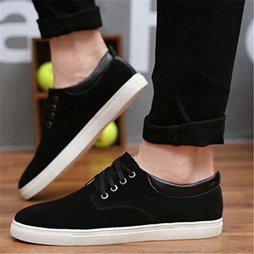 Transpirable De Lona Zapatos De Los Hombres Zapatos Negro Cuero Casuales Pisos T6qxxwZ8