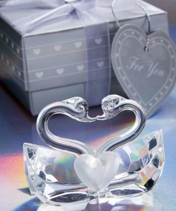 Choice Crystal Collection kissing swan wedding favors, 36