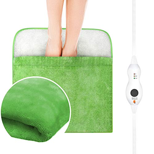 Heating Pad, Electric Heated Foot Warmer Ultra Soft Flannel Heat Therapy for Cold Feet, Poor Circulation, Neuropathy, Arthritis, Back, Waist, Menstrual Cramps w Auto Shut Off Warm Souls