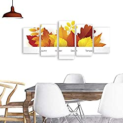 Modern PaintingsAutumn Sale and Hello Autumn gift card layout templates Shopping certificate vector illustration with maple leaves in traditional Fall colors - orange yellow red brown All objects iso