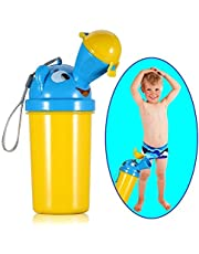 [Upgrade] BOOGO Portable Baby Child Kids Travel Potty Hygienic Leak Proof Urinal Emergency Toilet for Camping,Car Travel,Outside,Park and Kid Toddler Potty Pee Training,Cute Duck Design,Yellow-boy