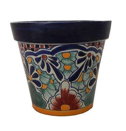 (Mexican Talavera Planter Ceramic Flower Pot Folk Art Pottery Garden Handmade)