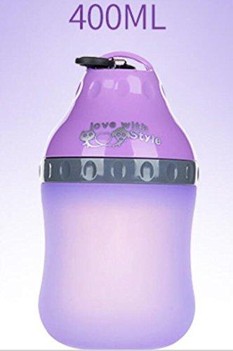 XCXpj Plato Comedero Bebedero Mascota Botella de Agua Portátil para Mascotas Botella de Agua Portátil para