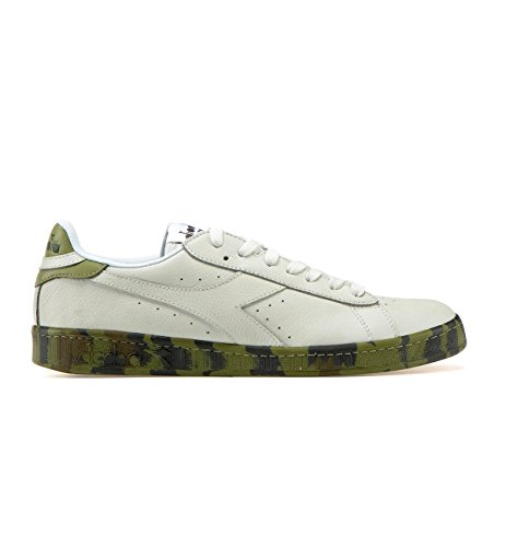 Shoes Camou Men Diadora Game Gymnastics Low Waxed Bianca YwxwHI