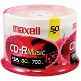 Maxell - Music CD-Rs (50-ct Spindle)