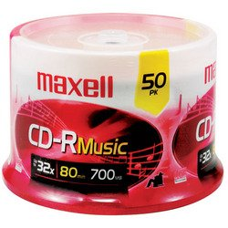 Maxell - Music CD-Rs (50-ct Spindle) by Maxell