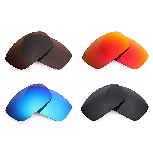 ed Replacement Lenses for Spy Optic Cooper XL Sunglass - Stealth Black/Fire Red/Ice Blue/Bronze Brown ()