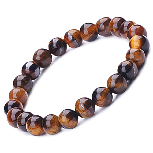 Buddha Baby Costume (Infinite U Women's Men's Buddha Rosary Bracelet 9mm Beads Wrist Mala Energy Stone Stretch Bracelet, Therapy Yoga Meditation, Brown)