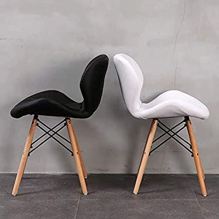 Sala da Pranzo Cucina Bianco Imbottite per Soggiorno Stile Moderno GroBKau Set di 4 sedie da Pranzo in Pelle PU