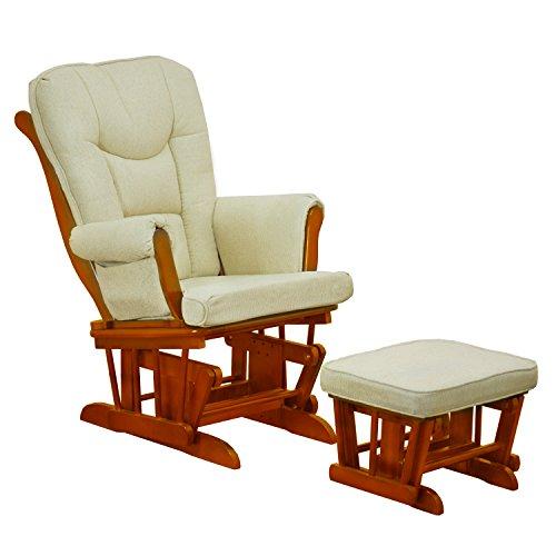 Athena AFG Sleigh Glider Chair, Pecan