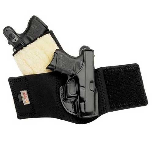 Galco Gunleather Ankle Glove/Ankle Holster for S&W J Frame 640 Cent 2 1/8-Inch .357 (Black, Right-hand)