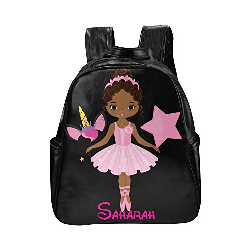 Brownkidswagcom Kids Book bag African American Girls Backpacks School Bookbags Ballerina Unicorn by Brownkidswag