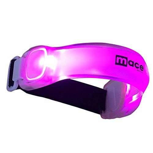 Mace Brand LED Adjustable Safety Band LED Safety Gear Adjustable Safety Band, Pink