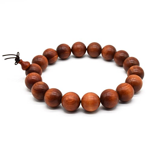 Zen Dear Unisex Natural Blood Dragon Wood Buddhist Prayer Beads Red Agathis King of Wood Mala Beads (20mm x 18 - Jewelry Monterey Stores