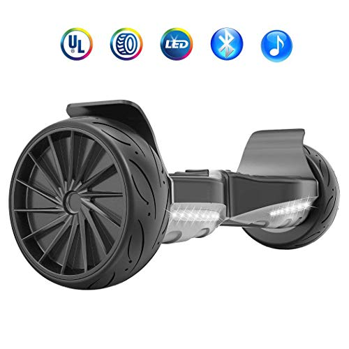 HYPER GOGO 8.5 Inch Hoverboard – Electric Smart Self Balancing Wheel Hoverboard Scooter – Hover Board with Bluetooth Speakers,LED Lights UL 2272 Certified