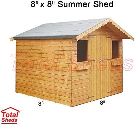 8 ft (2.4 M) X 8 Ft (2.4 M) jardín cobertizo verano cobertizo caseta de madera total cobertizos: Amazon.es: Jardín