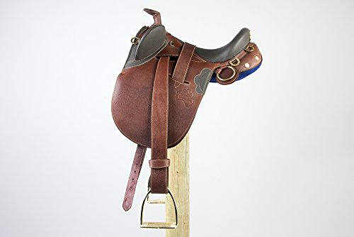 Down Under Saddle Supply Kimberley Economy Outback Wide Saddle with Horn, Brown, 16-Inch