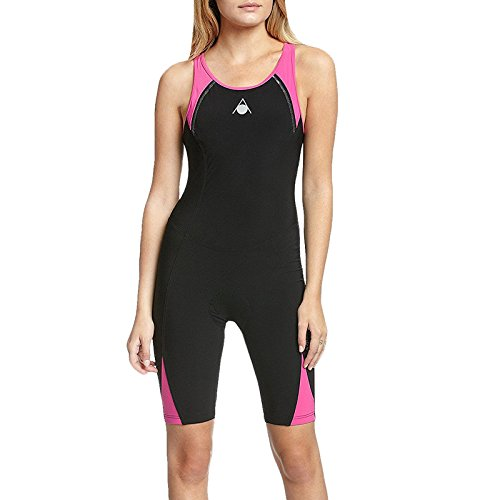 AQUA SPHERE Combinaison de triathlon Energize pour Femme, Noir/Rose, 76cm
