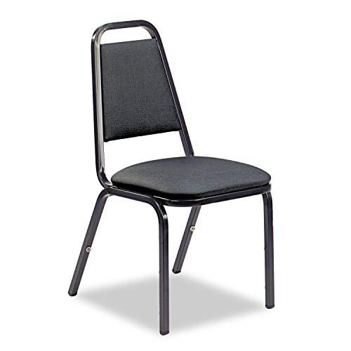 Virco 8926 Series Vinyl Upholstered Stack Chair, 18w x 22d x 34-1/2h, Black, 4/Carton - 489265E38G4 ()