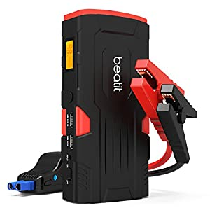 Beatit BT-D11 800A Peak 18000mAh 12V Portable Car Jump Starter ((up to 7.0L Gas Or 5.5L Diesel) with Smart Jumper Cables Auto Battery Booster Power Pack)