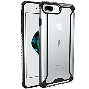 Poetic iPhone 7 Plus Case - Affinity Series Premium Thin/No Bulk/Slim Fit/Clear/Dual Material Protective Bumper Case for Apple iPhone 7 Plus (2016) - Black/Clear