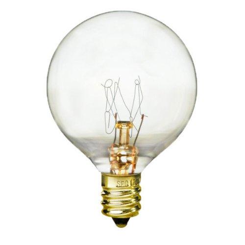 - Bulbrite 40G12CL 40W G12 Globe 130V Light Bulb, Clear