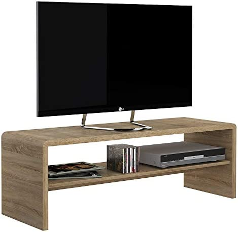 Muebles To Go 4 You de Ancho café Mesa/TV Unidad, Madera, Madera de Roble: Amazon.es: Hogar