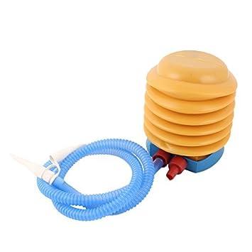 DealMux flotador juguete del globo bola Natación anillo de pie para inflar con aire de la bomba Azul Amarillo: Amazon.es: Juguetes y juegos