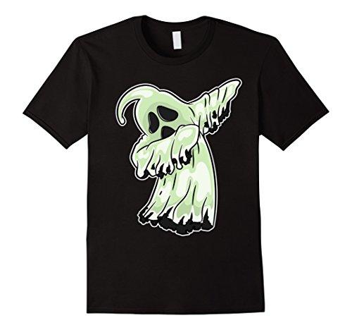 Funny Costume Dance (Mens Dabbing Ghost T-Shirt - Dab Dance Funny Halloween Costume Small Black)