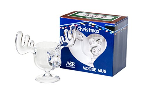 [Christmas Eggnog Moose Mugs - Gift Boxed Set of 2 - Safer Than Glass] (Eggnog Cups)