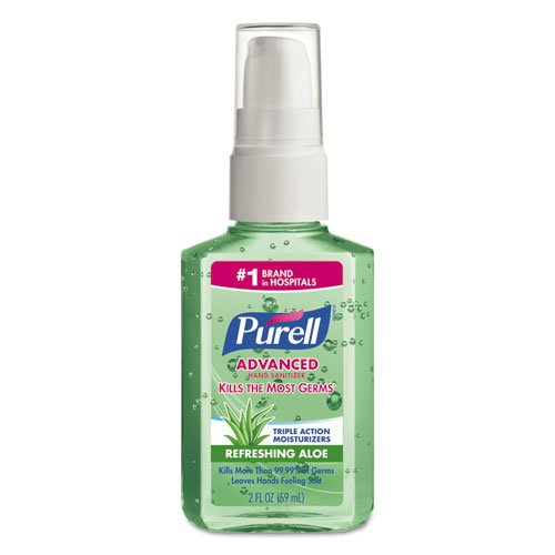 PURELL Instant Hand Sanitizer with Aloe, 2oz Pump Bottle, Fresh Scent - 24 pump bottles.